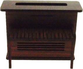 Piano Vintage Deco Marrom Madeira