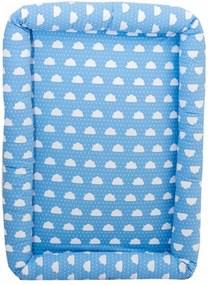 Colchonete de Chão para Bebê Nuvens Poá Azul Coleção Nuvenzinha