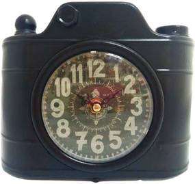 Relógio De Mesa Retrô Câmera Fotográfica