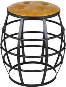 Seat Garden Italy Caramelo com Botone e Base Preta 52 cm (ALT) - 49117 Sun House