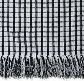 Manta para Sofá Black & White Italiana de 1,40 x 2,00 m Branca