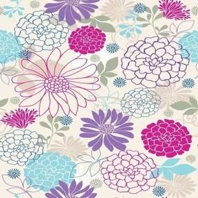 Papel De Parede Adesivo Flores Belas (0,58m x 2,50m)