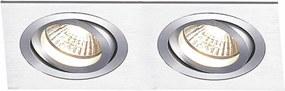 Spot de Embutir Ecco 2X AR111 GU10 Alumínio - Bella Iluminação - NS5112A