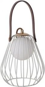 Luminária De Mesa Metal Branca Marrom Lamp