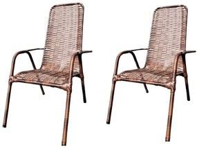 Kit C/ 2 Cadeiras De Junco(Alta) – JM Metalúrgica