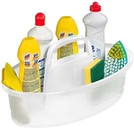 Organizador Plástico Sanremo Hydrus para Produtos de Limpeza Cristal 6lts
