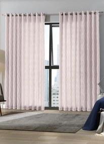Cortina com Forro Rosê 420x250 cm