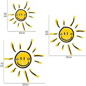 Adesivo de Parede Sol Desenho