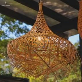 Pendente Palhinha de Bambu Natural