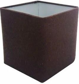 Cupula em Tecido Quadrada Abajur Luminaria Cp-4224 16/16x16cm Cafe