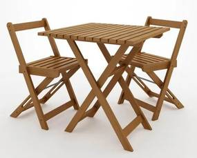 Kit Boteco Mesa Com 2 Cadeiras Cor Stain Jatoba - 23236 Sun House