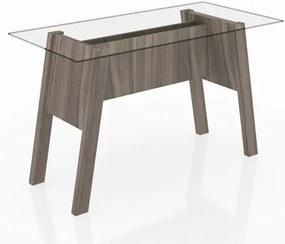 Mesa Para Escritório com Tampo de Vidro ME4134 Carvalho - Tecno Mobili