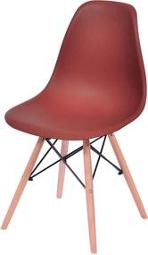 Cadeira Eames Dkr Base Madeira OrDesign Vermelha