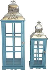 Conjunto com 2 Lanternas Azuis de Teto