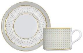 Jogo de 6 xícaras de Chá de Porcelana Royal - Off White