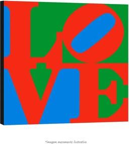 Poster Love - Com Fundo Verde E Azul (60x60cm, com Painel)