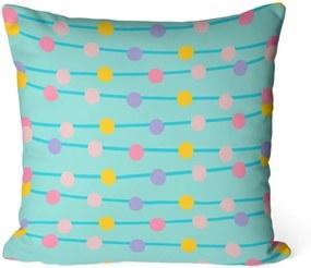 Almofada Love Decor Avulsa Decorativa Bolinhas Coloridas 45x45cm
