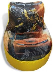 Pufe  Goodpufes  Pufe Gamer Transformers Amarelo