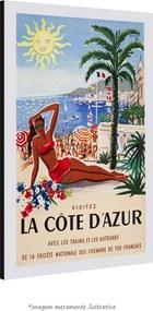 Poster Costa Azul (30x45cm, com Painel)