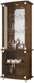 Cristaleira Com Portas De Vidro 4070 Jb Bechara Canela