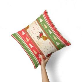 Capa de Almofada Avulsa Decorativa Merry Christmas 35x35cm