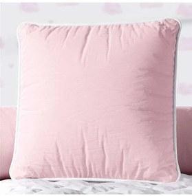 Almofada Rosa Quadrada Cordonê Branco 38cm Grão de