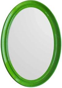 Espelho Contemporary Oval Verde em MDF - Urban - 70x50 cm