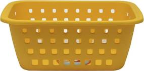 Cesto Caixa Organizadora Grande 5 Litros Amarela Ordene