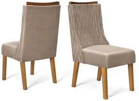 Conjunto 2 Cadeiras Amélia Carvalho Tecido Veludo Kraft