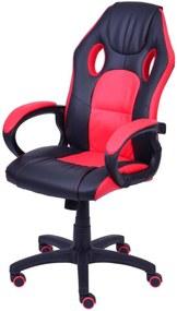 Cadeira Gamer Preta com Detalhe Vermelho