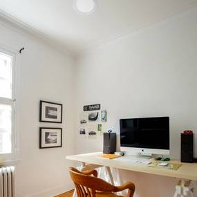 Plafon Led Embutir Redondo 18W Branco 22,5Cm - LED BRANCO QUENTE (3000K)