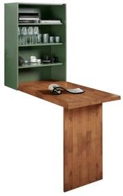 Mesa Dobrável de Parede Verde Musgo - Wood Prime MP 33215