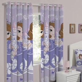 Cortina Curta Infantil Corta Luz Disney Sofia Sweet