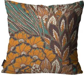 Almofada Premium Peluciada Mdecore Floral Colorido45x45cm