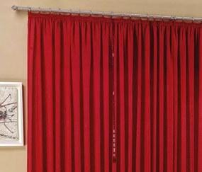 Cortina Amore Seda Amassada 4,00m x 2,80m para Varão Simples - Vermelho