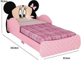 Mini Cama Infantil Minnie Disney Rosa - Pura Magia