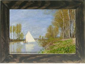 Quadro Decorativo A4 Small Boat on the Small Branch of the Seine at Argenteuil - Claude Monet Cosi Dimora