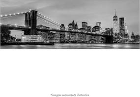 Poster Brooklyn Bridge - Nyc - Preto E Branco (170x60cm, Apenas Impressão)
