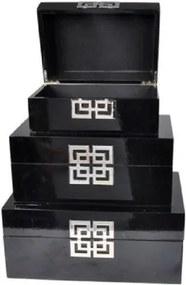 Conjunto de Caixas Pretas 3 peças