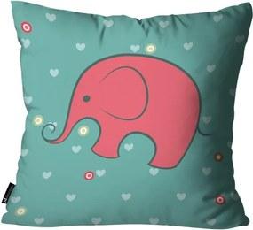 Almofada Infantil Elefante Verde45x45cm