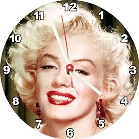 Relógio Decorativo Marilyn Monroe Rosto Colorido