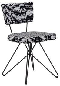 Cadeira Cozinha Maya Retrô Base Aramada - Wood Prime WF 19395