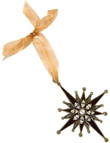 Ornamento de Metal com Pedras Estrela de Natal