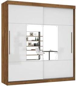 Guarda-Roupa Ipanema Com Espelho Canela/Off White – Mirarack