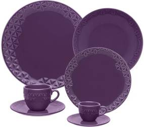 Aparelho de Jantar Porcelana Mia Estelar Oxford 30/42 Peças - 42 Peças