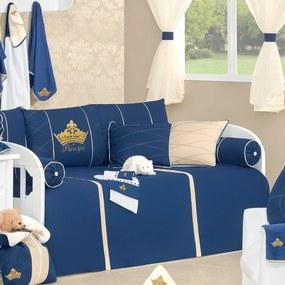 Quarto Para Bebê Padroeira Baby Príncipe Luxo Azul Marinho