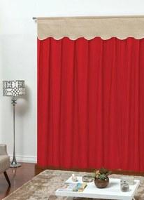 Cortina para Porta com Bandô Vermelha 410x250 cm