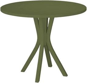 Mesa de Jantar Klaus em Madeira Maciça - Verde Musgo
