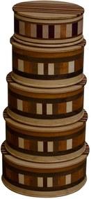 Kit com 4 Caixas de Madeira Artesanal Feita em Marchetaria - Dalbergia