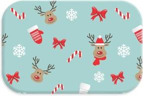 Tapete Decorativo Lar Doce lar Natal 40cm X 60cm Multicolorido